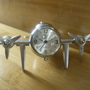 Desk Top Clock-Airplane